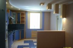 Общий вид кухни-столовой после ремонта.