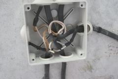 Изоляция проводов и размещение в распред коробке.