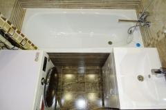 Готовая ванная комната. Вид сверху.