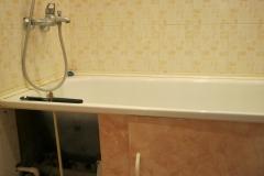 Вид старой ванной до ремонта.
