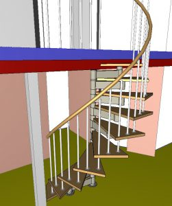 Проект винтовой лестницы