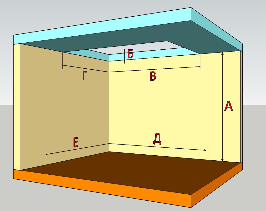 Схема размеров для создания проекта лестницы