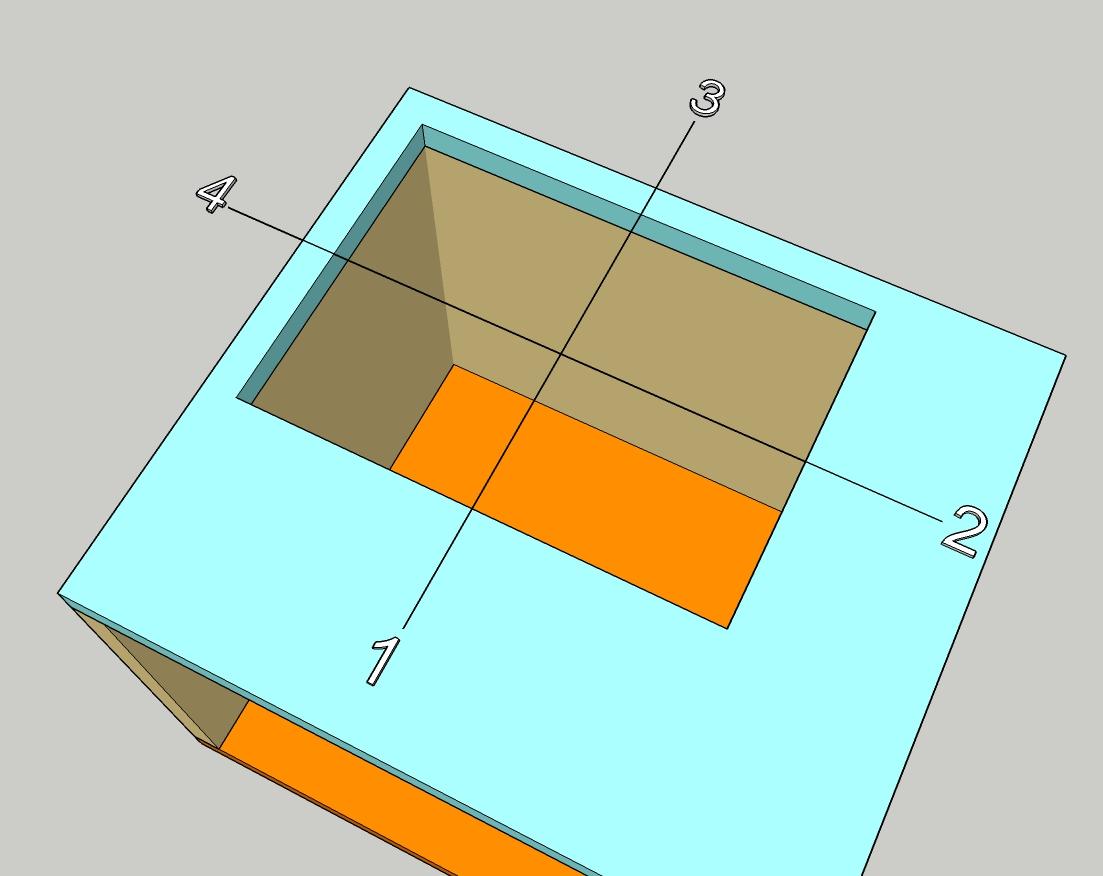 Схема для определения направления выхода лестницы