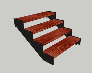 "Каркас лестницы. № 5 Наклонный косоур ""Лофт"""