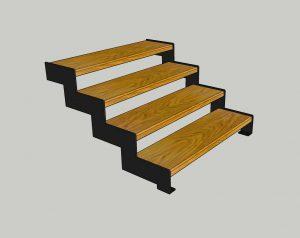 """Каркас лестницы. № 6 Ломаный косоур """"Лофт"""""""