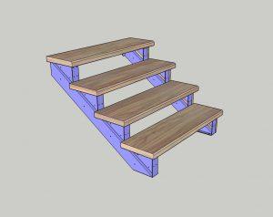 Каркас лестницы. № 9 Под обшивку (любыми материалами)